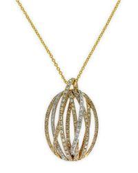 Effy Metallic Doro 14kt. Yellow Gold And Diamond Pendant Necklace