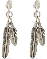 Saint Laurent | Metallic Plumes Charm Earrings | Lyst