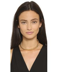 Gemma Redux | Metallic Chain Choker Necklace - Gold | Lyst