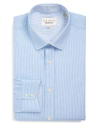 Ted Baker Blue 'silsurf - Endurance' Trim Fit Dress Shirt for men