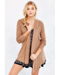 Silence + Noise | Brown Bleeker Drapey Cardigan | Lyst