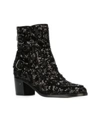 Laurence Dacade - Black Sequinned Ankle Boots - Lyst