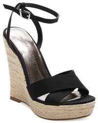 Madden Girl | Black Women's Viicki Platform Wedge Sandal | Lyst
