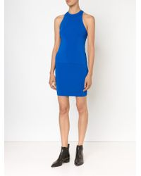 T By Alexander Wang - Blue Ribbed Tank Top - Lyst