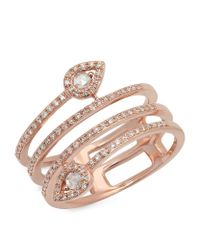 Kenza Lee | Multicolor Spiral Diamond Ring | Lyst