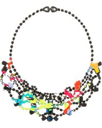 Tom Binns | Black and Chartreuse Au Fait Paint Necklace | Lyst