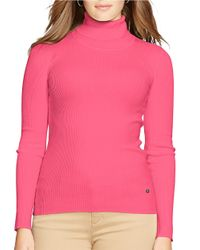 Lauren by Ralph Lauren | Pink Plus Turtleneck Sweater | Lyst