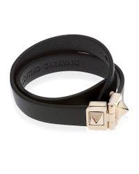 Valentino | Black Double Wrap Bracelet | Lyst
