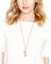 Kate Spade | Metallic Lemon Pendant | Lyst