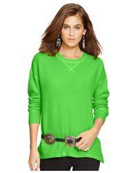 Polo Ralph Lauren | Green Cashmere Crewneck Sweater | Lyst
