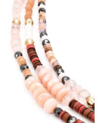Royal Nomad Jewelry | Brown Mixed Stone Beaded Necklace | Lyst