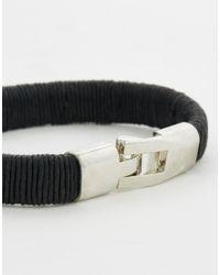 ASOS - Smart Leather Bracelet In Black for Men - Lyst