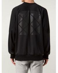 D.GNAK Black Oversized Panelled Sweatshirt for men