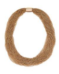Brunello Cucinelli | Metallic Multi-strand Monili Collar Necklace | Lyst