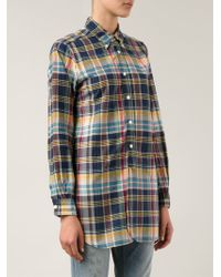 Engineered Garments - Multicolor Madras Shirt-Blue Size 1 (2 Us) - Lyst