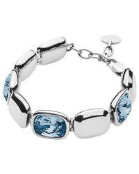 Dyrberg/Kern Blue Dyrberg/kern Swarovski Crystal Theatre Bracelet
