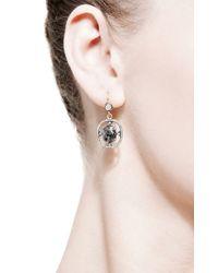 Sylva & Cie Metallic Rough Diamond Earrings