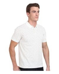 Ben Sherman | White Geo Print Regular Fit Polo Shirt for Men | Lyst
