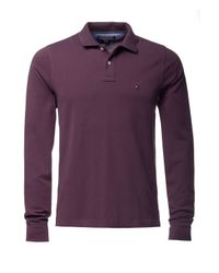 Tommy Hilfiger | Purple Long Sleeve Polo Top for Men | Lyst
