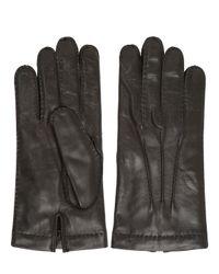 Mario Portolano Brown Handmade Nappa Leather Gloves