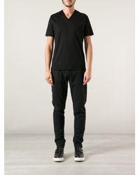 Dior Black V-Neck T-Shirt for men