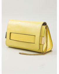 Chloé | Yellow Elle Lambskin Cross-Body Bag | Lyst