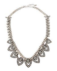 Kenneth Jay Lane | Metallic Rhinestone Arrow Station Necklace | Lyst