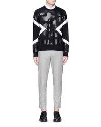 Neil Barrett Black Camouflage Print Bonded Jersey Sweatshirt for men