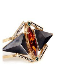 Iosselliani - Metallic Pyramid Crystal Cuff - Lyst