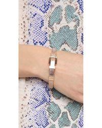 Michael Kors | Pink Mk Buckle Bangle Bracelet - Rose Gold | Lyst