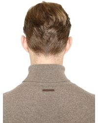 Corneliani - Natural Wool & Cashmere Turtleneck Sweater for Men - Lyst