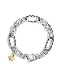 David Yurman | Metallic Oval Figaro Chain Bracelet With Gold | Lyst