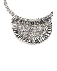 Forever 21 - Metallic Half Circle Statement Necklace - Lyst