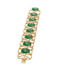 Trina Turk - Green Lg Oval Stone Flex - Lyst
