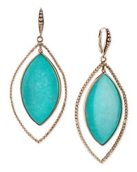 Stephen Dweck - Blue Nouveau Beaded Turquoise Marquis Earrings - Lyst