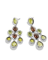 David Yurman | Yellow Chandelier Earrings with Lemon Citrine Smoky Quartz and Peridot | Lyst