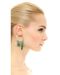 Venessa Arizaga - Metallic Stellar Earrings - Silver Multi - Lyst