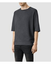 AllSaints - Gray Soniams Crew for Men - Lyst