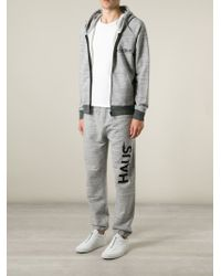 Haus By Golden Goose Deluxe Brand - Gray X Ggdb Back To Basics Print Hoodie for Men - Lyst