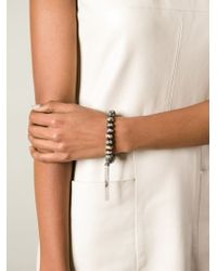 Loree Rodkin - Brown Beaded Tassel Bracelet - Lyst
