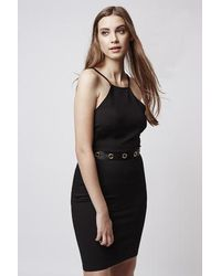 TOPSHOP Black Eyelet Bodycon Dress By Oh My Love