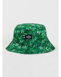 Criminal Damage Green High Life Leaf Bucket Hat for men