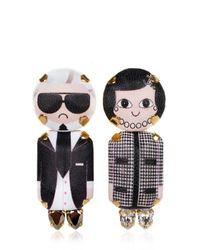 Bijoux De Famille - Black Coco & Karl Pendent Earrings - Lyst