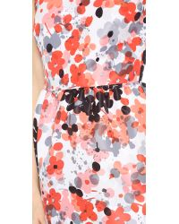 RED Valentino Abstract Floral Dress - Orange