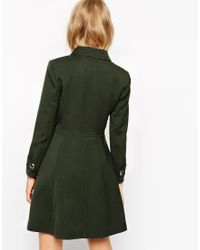 ASOS | Black Coat With 60s Styling | Lyst