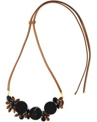 Marni | Black Crystal Necklace | Lyst