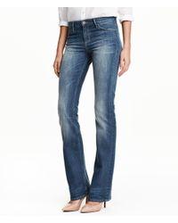 H&M Blue Boot Cut Regular Jeans