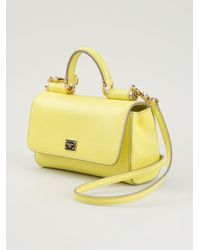 Lyst - Dolce   Gabbana Small  Miss Sicily  Shoulder Bag in Yellow d2e891844cc14