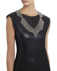 BCBGMAXAZRIA - Metallic Chainmail Collar Necklace - Lyst