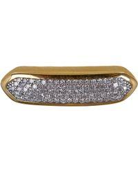 Monica Vinader - Metallic Small Gold Vermeil Diamond Baja Chain Bracelet - Lyst